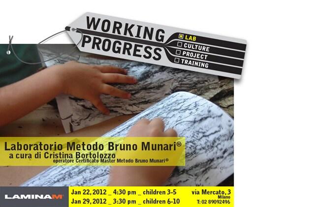 Laminam Working Progress: Munari workshops for children