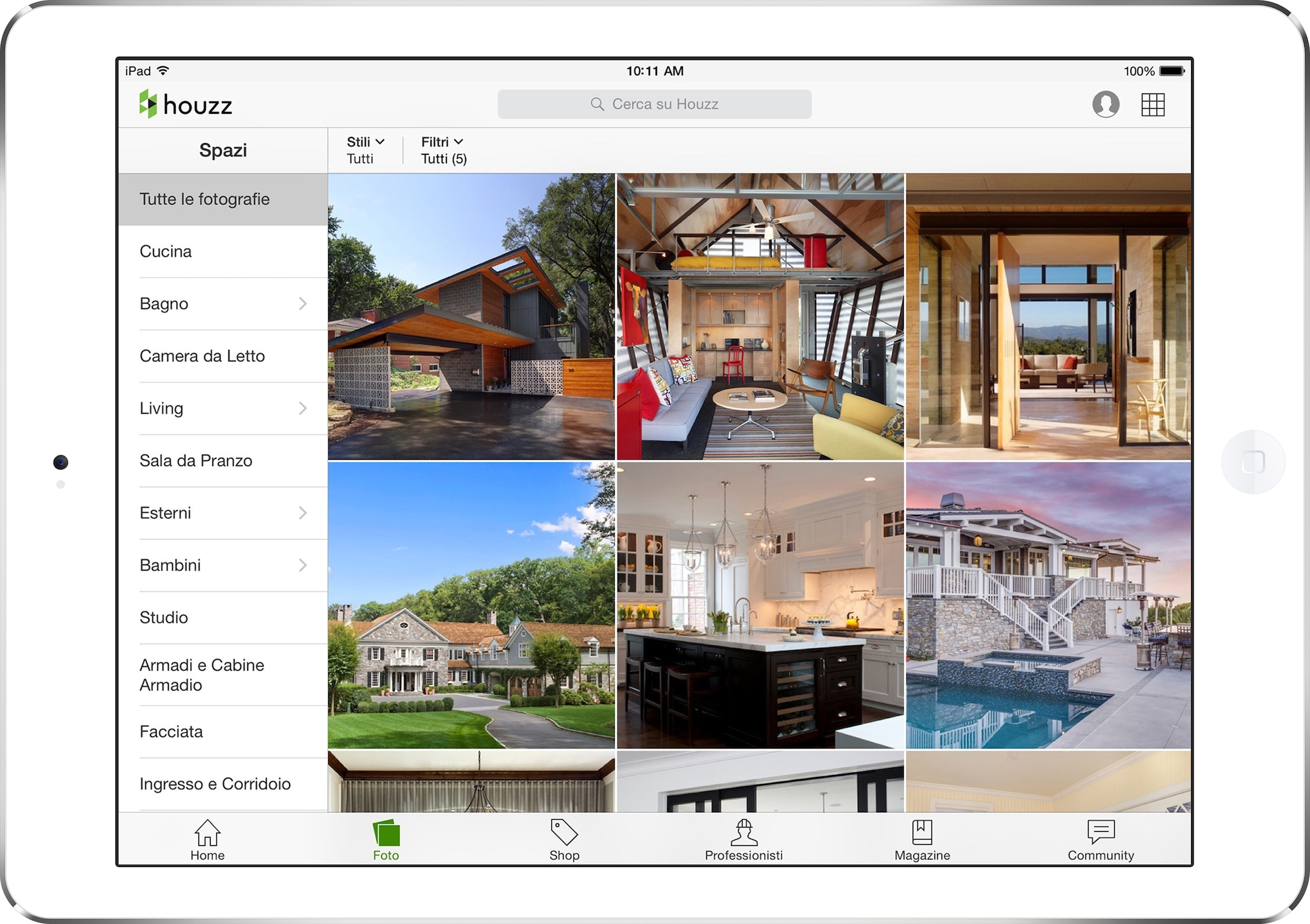 Houzz launches italian site interni magazine Houzz design app