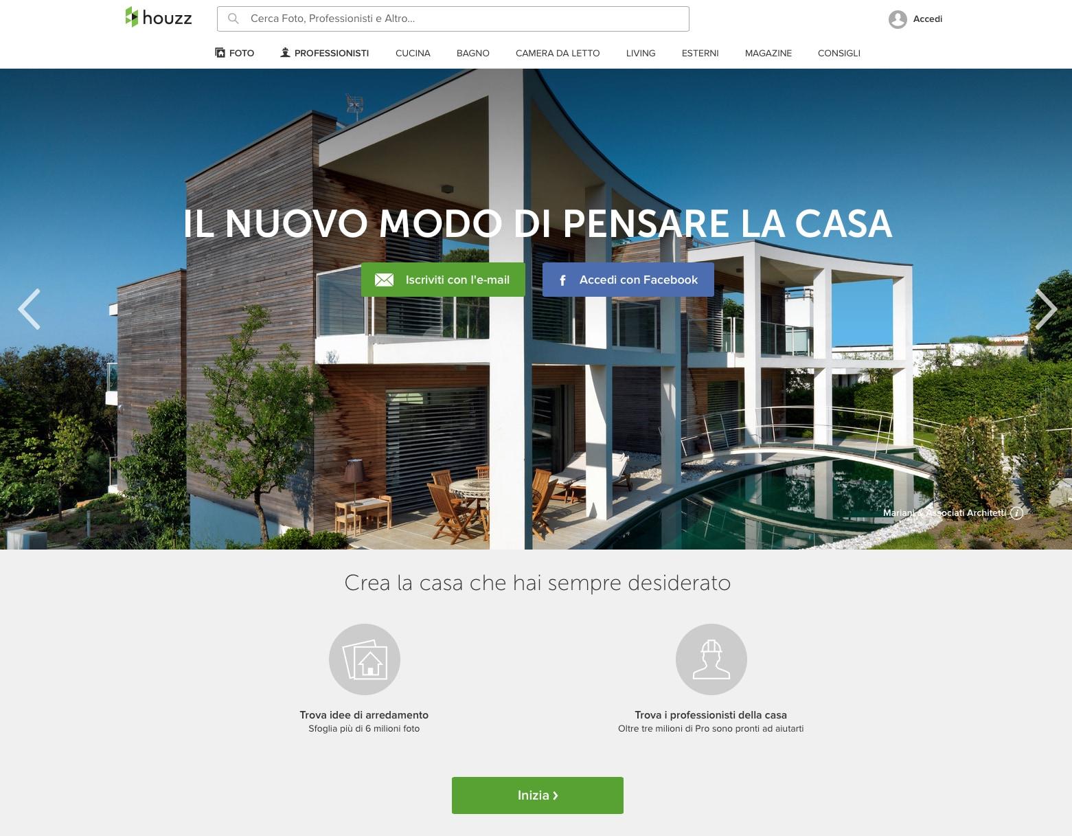 Houzz launches italian site interni magazine for Houzz magazine