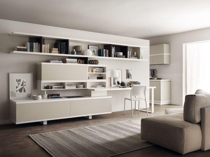Foodshelf the kitchen by ora to for scavolini interni for Scavolini pareti attrezzate