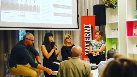 From left, Giulio Iacchetti, Laura Traldi, Gilda Bojardi, Patrizia Scarzella.