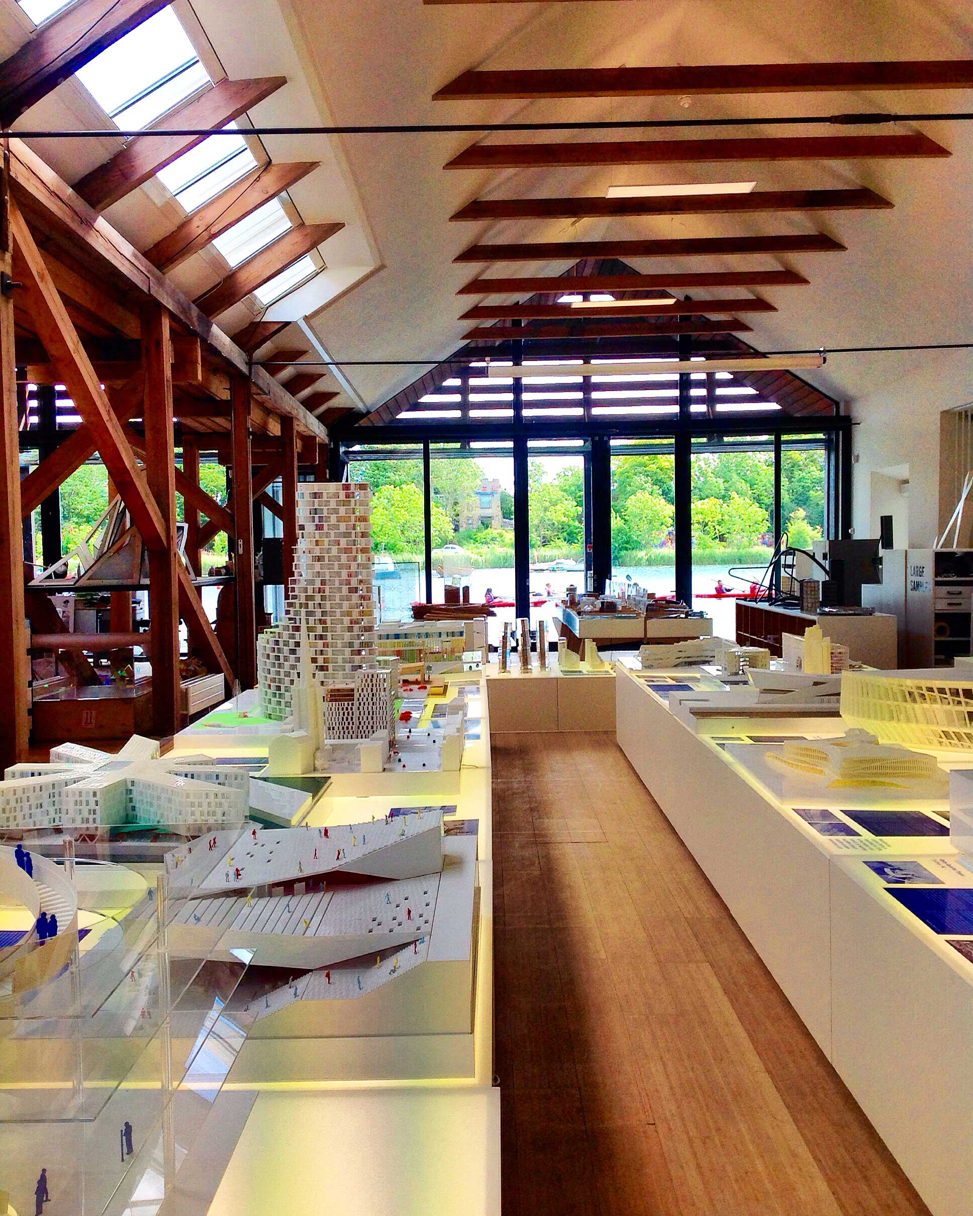 View of the scale models area