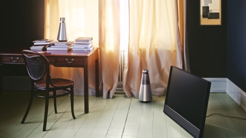 The BeoSound 1 and 2 music systems and the 4K Ultra HD BeoVision Horizon television by Bang & Olufsen