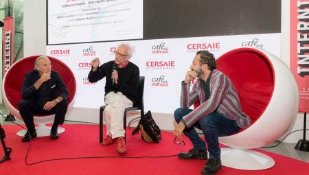From left, Massimo Iosa Ghini, Giampiero Mughini, Cesare Picco.