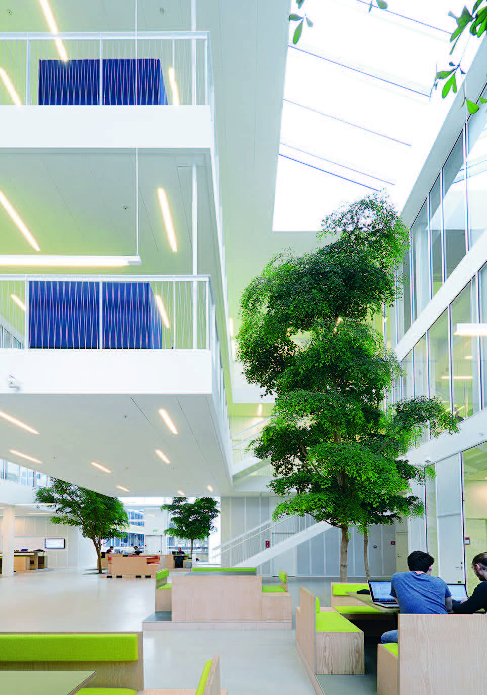 Perfect The DTU Compute: It Too Is On The University Campus For Scientific  Disciplines In Copenhagen. The Building, With A Glass Volume On Three  Levels, ...