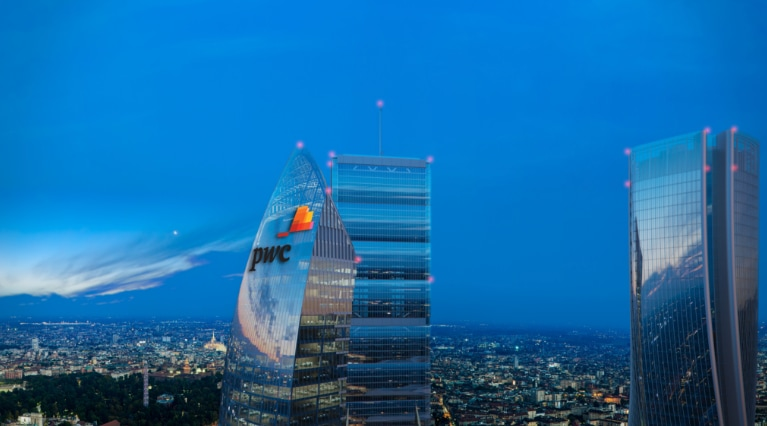 The Libeskind tower becomes Torre PwC