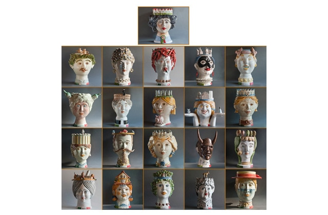 Unity in diversity: 21 anthropomorphic ceramic works of Caltagirone