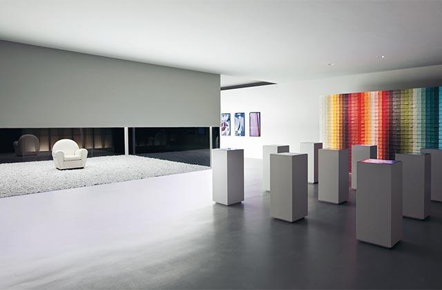 Museo Poltrona Frau, De Lucchi vs Moschini