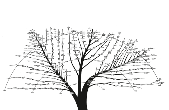 The family tree of design