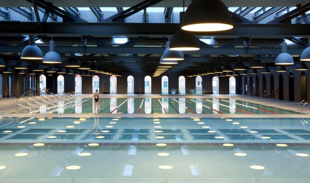 The pools of Piscine Castiglione for the Olympic games in 2016 in Rio de Janeiro