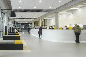 HI-MACS® for the renovation of the city hall of Almere, Holland