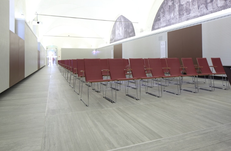 The Verse series by Ceramiche Caesar for Biblioteca delle Oblate in Florence