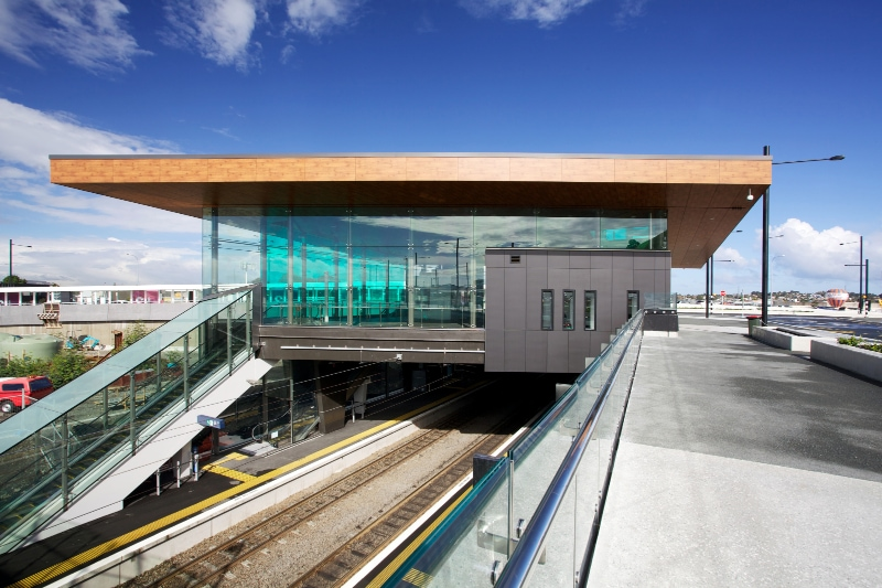 Laminam for the ventilated facade of the Panmure Station in Auckland, New Zealand