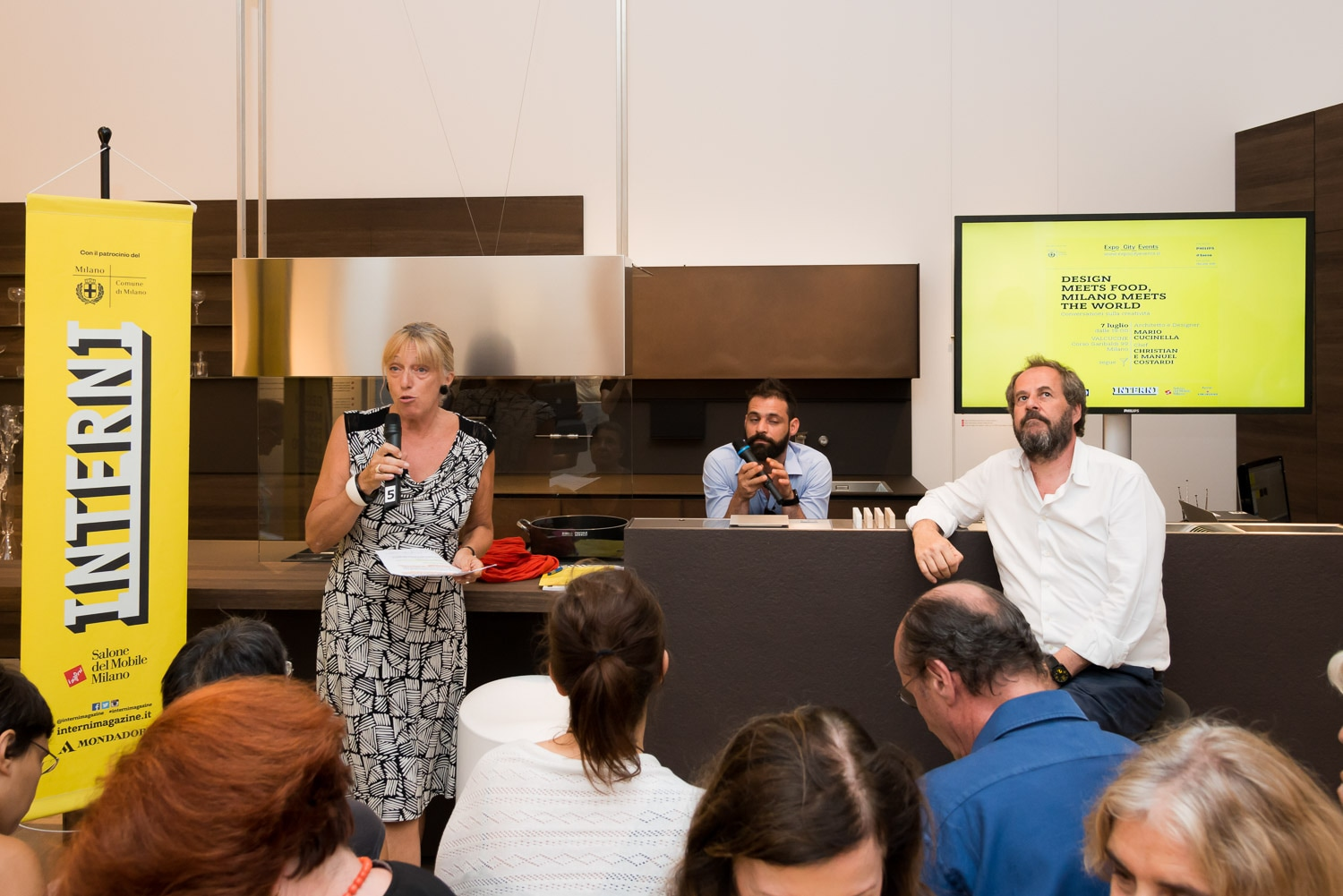 Interni. Design meets Food. Milano meets the World Valcucine, 8 JUly