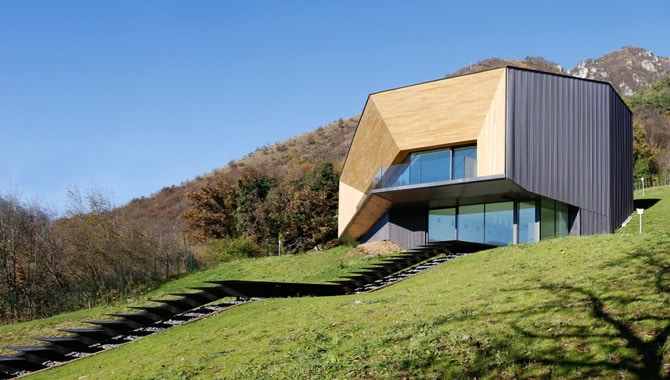 An ecological house in Tecu® Oxid