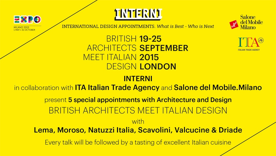 INTERNI presents Interni Design Aperitivo in London