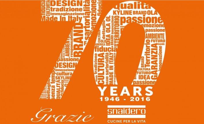 Snaidero celebrates 70 years of history