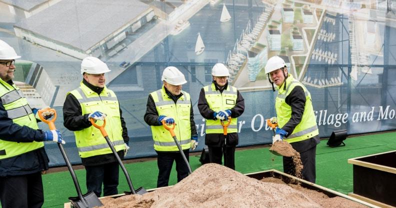 Kotka. Construction begins at the historic port