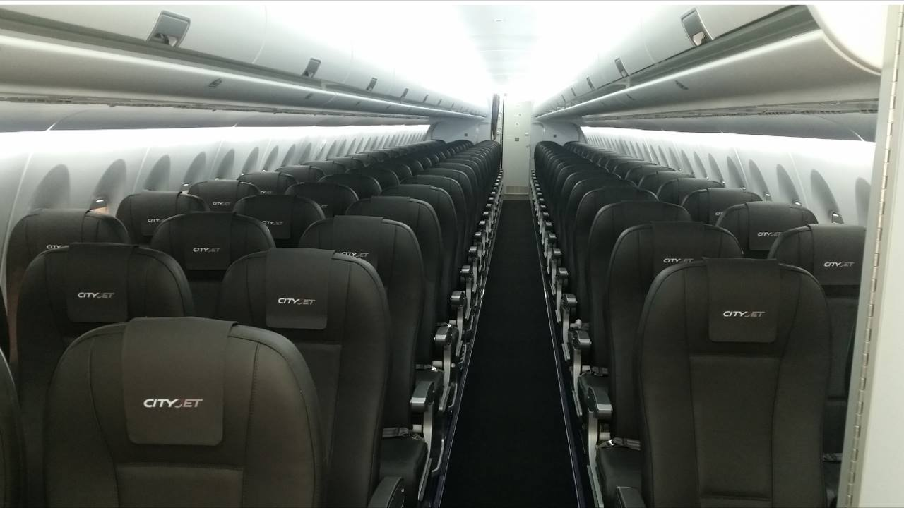 The first Sukhoi Superjet 100 by CityJet