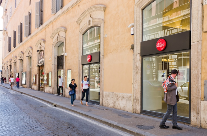 Leica Store in Rome