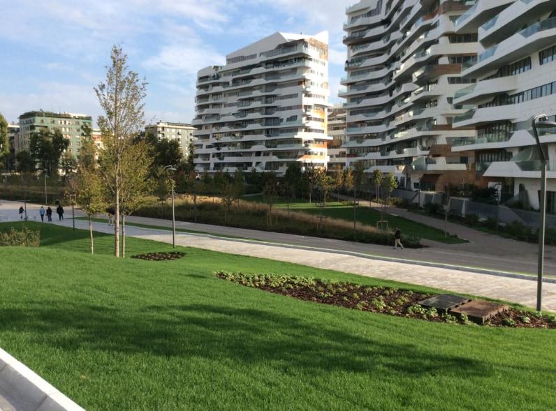 Innovative drainage for CityLife Milano
