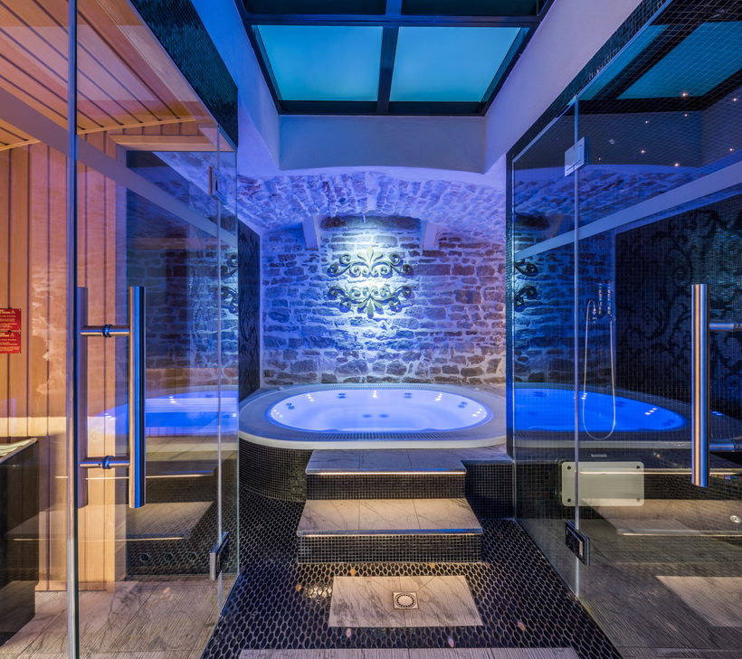 Wellness in an ancient crypt