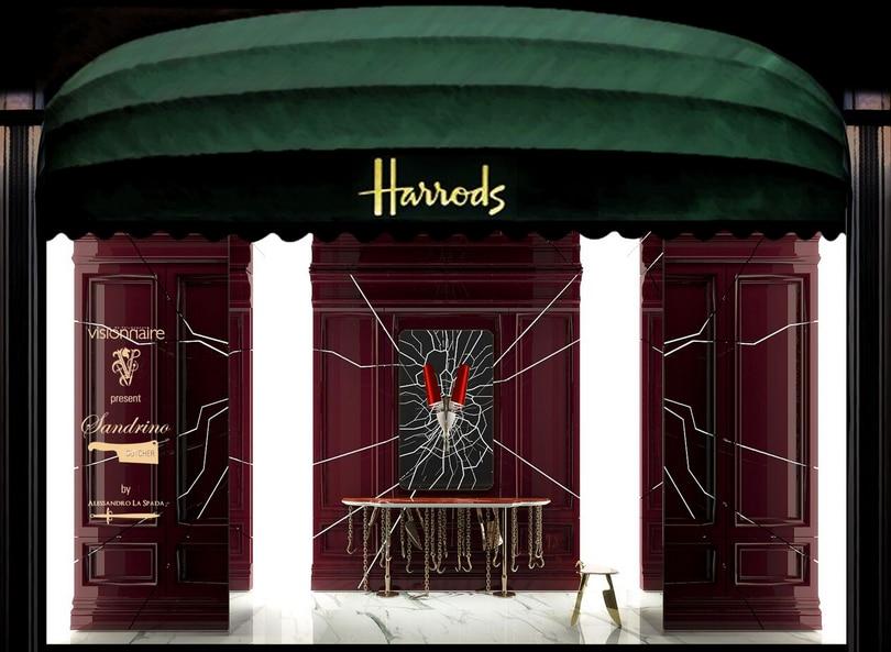 Art design in the windows of Harrods