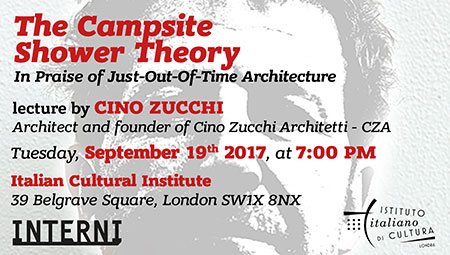 The Campsite Shower Theory. Lecture by Cino Zucchi