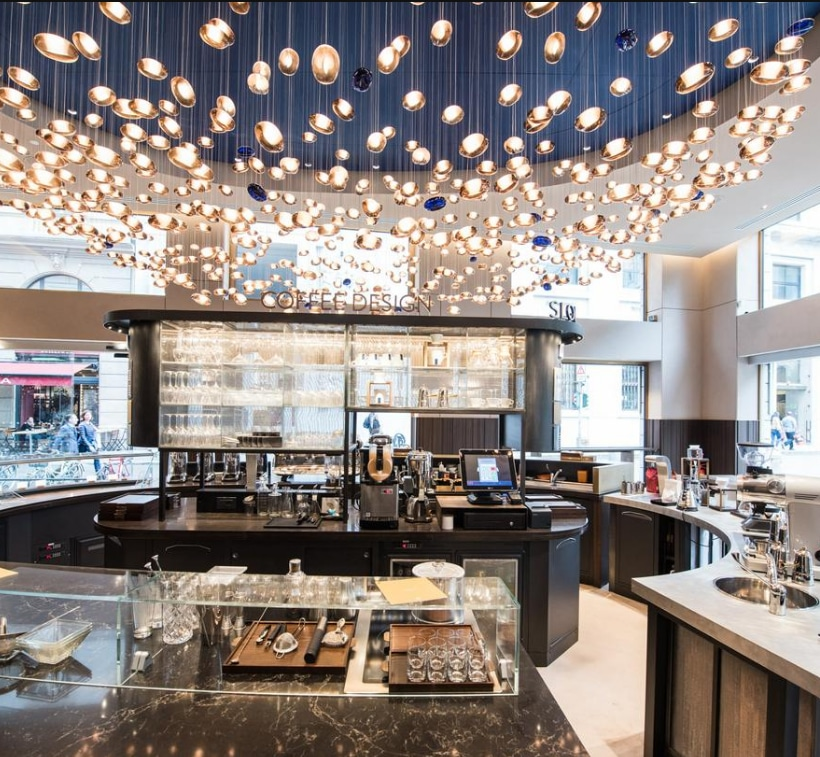 The first Lavazza flagship store in Milan