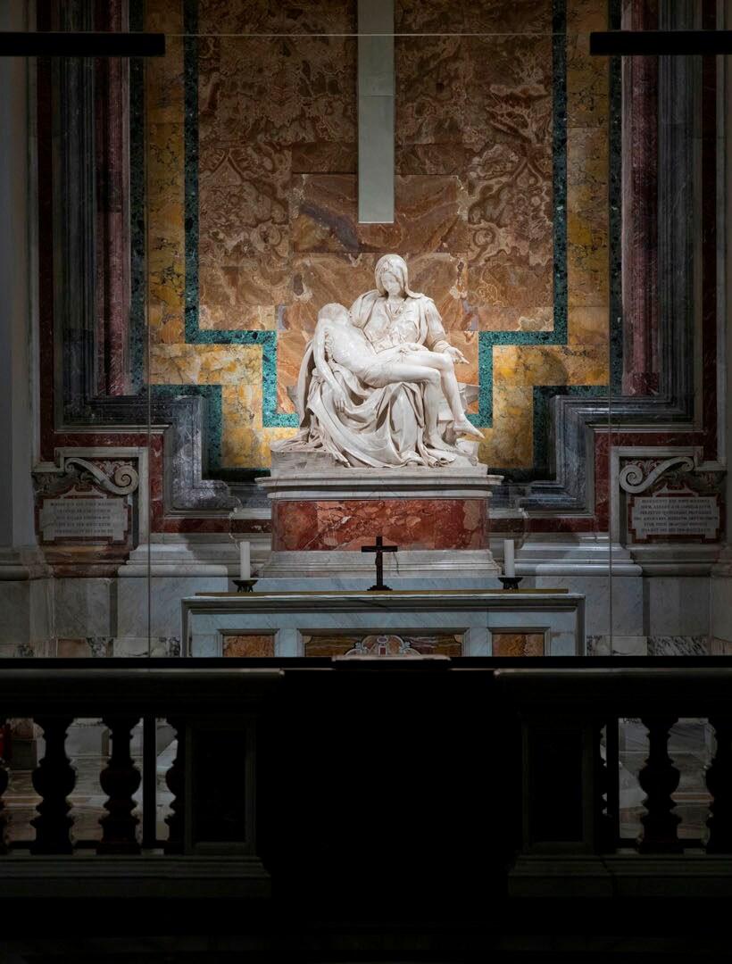 Light on the Pietà