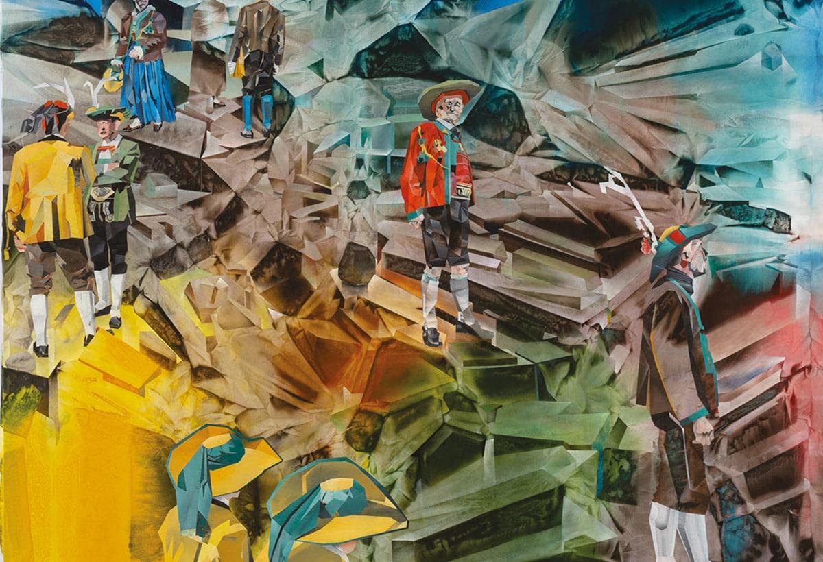 L'andata al presepe_2009-2019_1 colori ad olio su tela_220x540cm_A_foto Cosimo Filippini