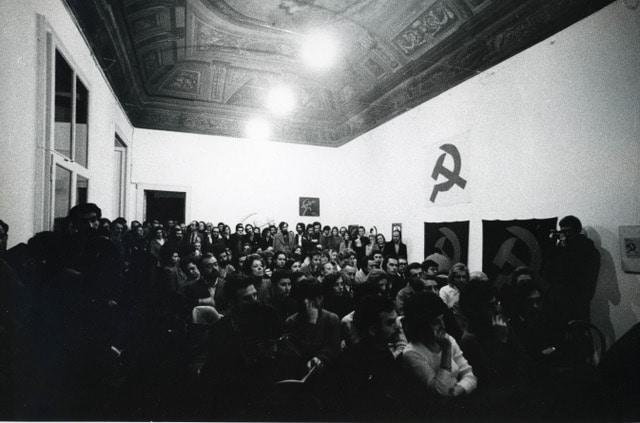7. Falce e martello_dibattito_inagurazione_Galleria Milano_ph Alberto Gnesutta 2