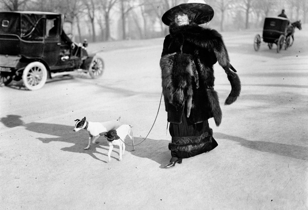 """2. Anna la Pradvina, detta anche """"la signora con le volpi"""" Avenue du Bois, Paris, 1911"""