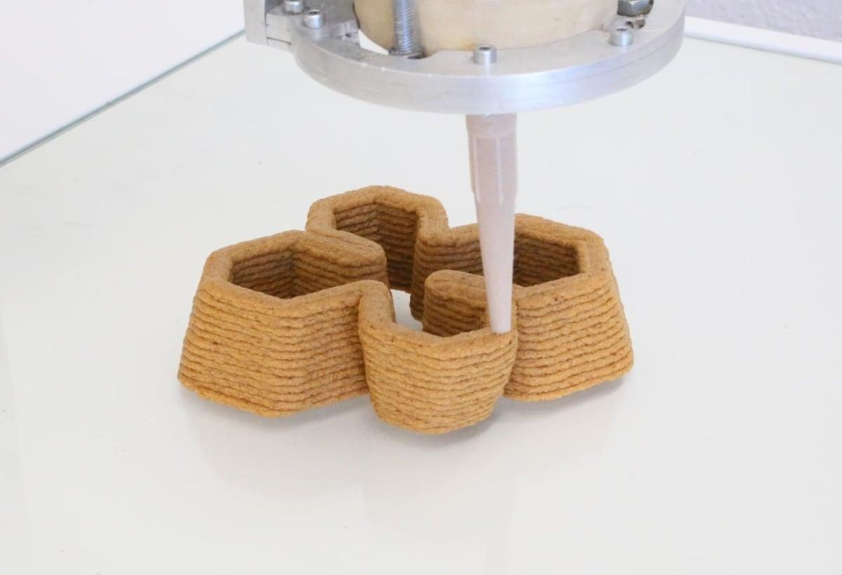 Bio Ex Machina – ©Officina Corpuscoli _ Maurizio Montalti – computed 4D printed modular mycelium bricks 1