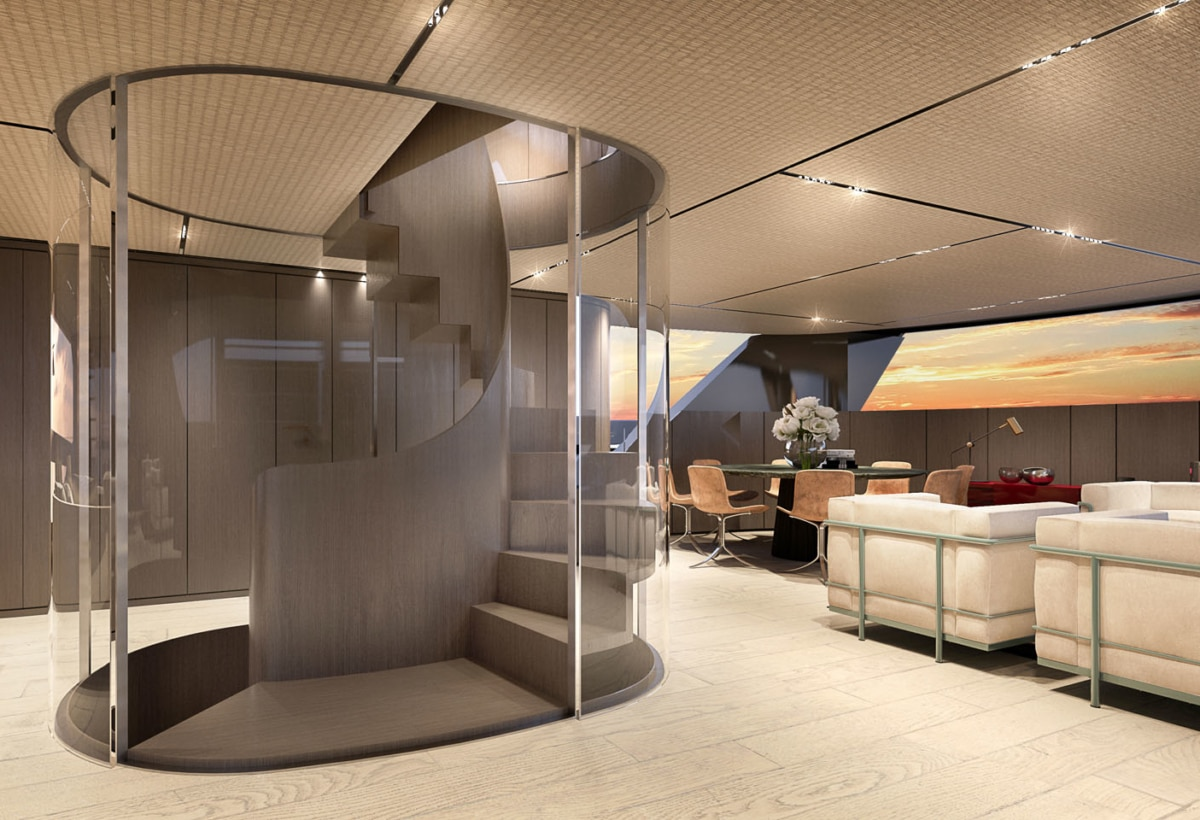 6 13 – SX112_MainDeck_salon_interior by Piero Lissoni