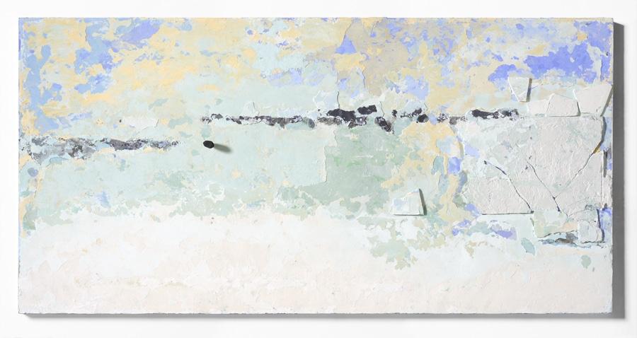 10. Paesaggi in polvere, 2017, pigmenti e scagliola su tavola, cm 100×200