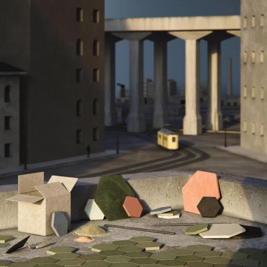 fangoRosa – Set Calcestruzzo – Mario Sironi-min