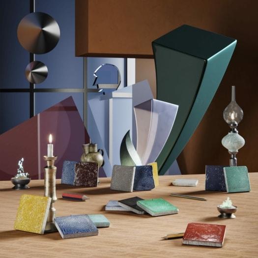fangoRosa – Set Cotto Smaltato – Fortunato Depero-min