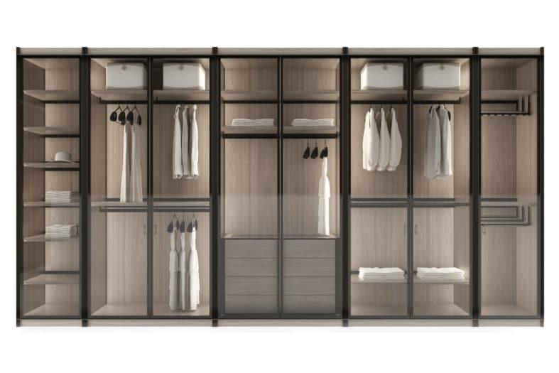 Giorgetti cabina armadio con sanificatore Miyabi