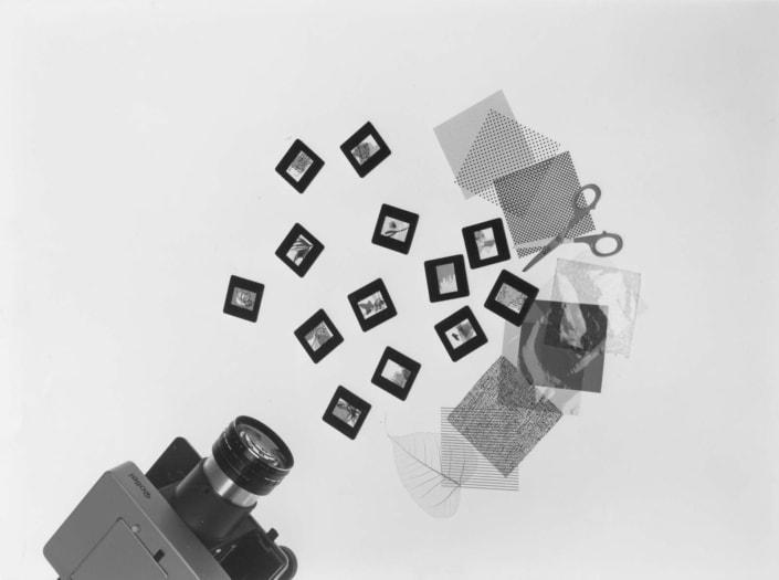 02_-Bruno-Munari-Proiezioni-dirette-anni-Cinquanta-kit-come-vetrini-vuoti-e-materiali-vari-ph-Aldo-Ballo-courtesy-Fondazione-Jacqueline-Vodoz-e-Bruno-Danese