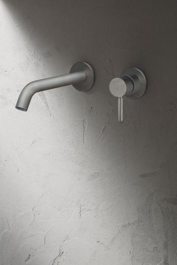 NOSTROMO – Miscelatore lavabo da parete Raw Metal PVD – 2021 _1