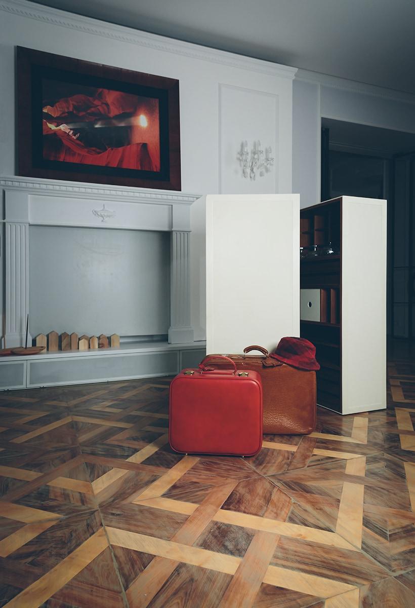 Design with suitcase