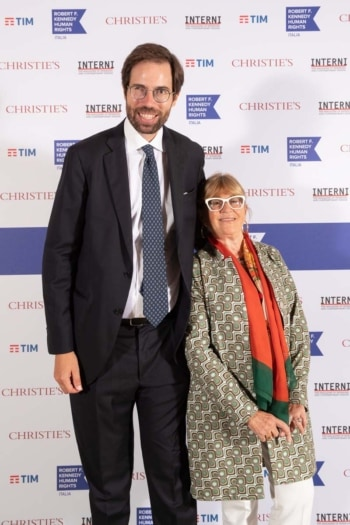 RFK Italia Guests Federico Moro Segretario Generale RFK Italia e Gilda Bojardi Direttore INTERNI